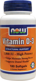 Vitamin D3 400 Softgels 180 капс